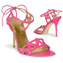 Fuchsia Italian Calf Leather Ankle-Strap Sandal Shoes