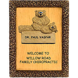 Business Welcome Plaque for Chiropractic Office