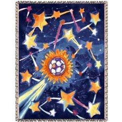 Soccer Star Tapestry Throw