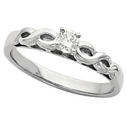 Infinite Love Solitaire Diamond Promise Ring
