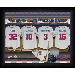 Personalized Atlanta Braves MLB Locker Room Print