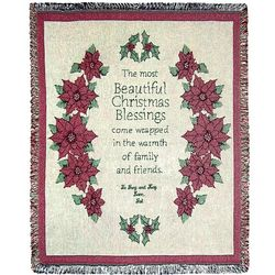 Christmas Blessings Personalized Tapestry