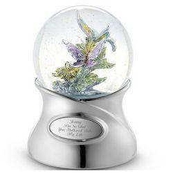 Cloisonne Butterfly Snow Globe