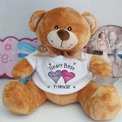 Beary Best Friends Custom Printed Teddy Bear