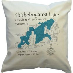 Personalized Lake Art Pillow