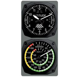 Aviation Wall Clock and Thermometer