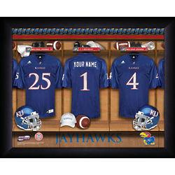 Personalized Kansas Jayhawks Locker Room Print
