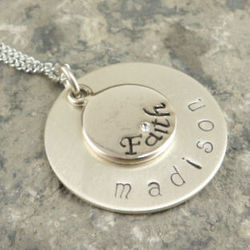 Faith Personalized Hand Stamped Sterling Necklace