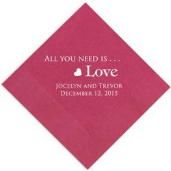 All You Need is Love Napkins