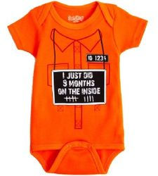 I Just Did 9 Months on the Inside Baby Bodysuit