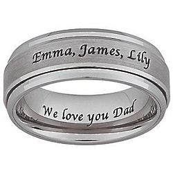 Personalized Tungsten Laser Engraved Spinner Band