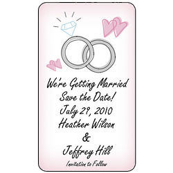 Personalized Save The Date Wedding Ring Magnets