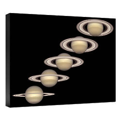 Saturn from 1996 to 2000 Hubble Image Canvas Print