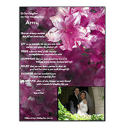 Personalized Wedding Poem for Daughter