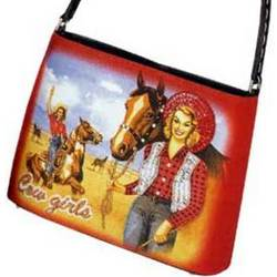 Cow Girl Handle Bag
