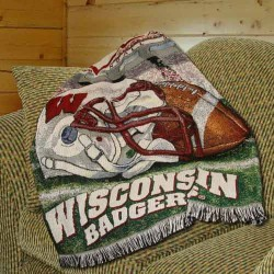 "Wisconsin Badgers 48"" X 60"" Woven Blanket Throw"