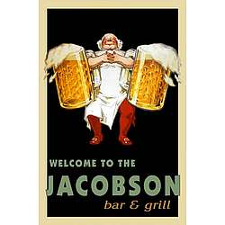 Personalized Vintage Barkeep Pub Sign