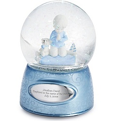 Praying Boy Snow Globe