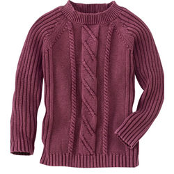 Women's Raglan Cable Crew Sweater