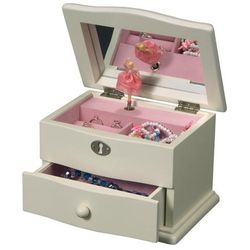 Girls Dancing Ballerina Jewelry Box with Music Box