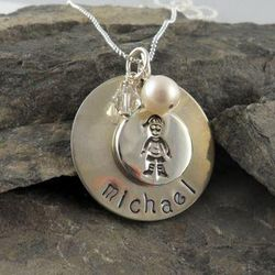 Boy or Girl Tag Personalized Hand Stamped Necklace