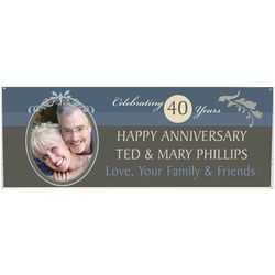 Happy Anniversary Personalized Photo Banner