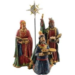 Three Kings Following the Christmas Star Figurines Set