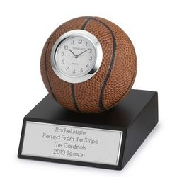 Engraved Basketball Clock