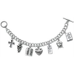 Answered Prayer Charm Bracelet with Locket in Sterling Silver