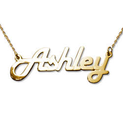 Stylish 14 Karat Yellow Gold Name Necklace