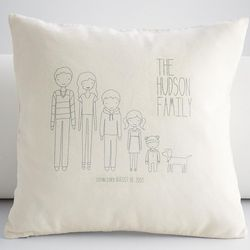Personalized Family Members Pillow Case