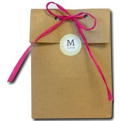 Personalized Favor Paper Bags with Labels