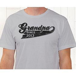 Grandpa Since Personalized T-Shirt