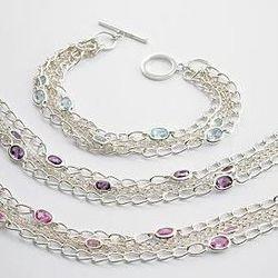 Five Strand Birthstone Bracelet