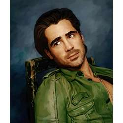 Colin Farrell Oil Painting Fine Art Print