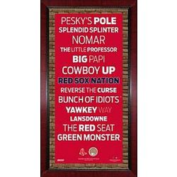 Boston Red Sox 16x32 Subway Sign