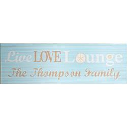 Personalized Live Love Lounge Canvas Wall Art