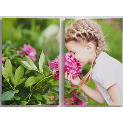 2-Piece Custom Photo Vertical Split-Panel Canvas Print