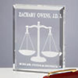 Personalized Scales Of Justice Legal Paperweight