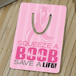 Squeeze a Boob, Save a Life Breast Cancer Awareness Bookmark