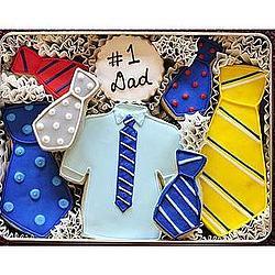 Tie Decorated Sugar Cookies
