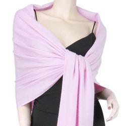 Pure Pashmina Light Pink 3 Ply Wrap