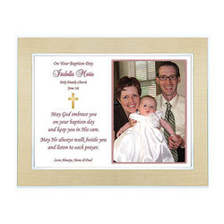 Baptism Frame with Personalized Message for Boy or Girl