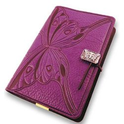 Butterfly Embossed Leather Journal