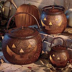 Metal Jack-O-Lanterns