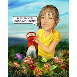 Gardening Caricature from Photos