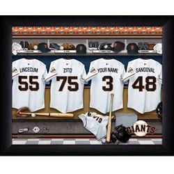 Personalized San Francisco Giants MLB Locker Room Print