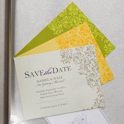 Elegant Floral Custom Save The Date Magnets