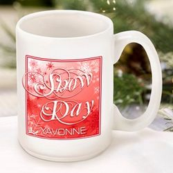 Red Snow Day Coffee Mug