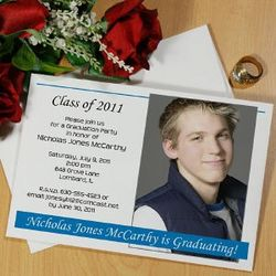 Custom Printed Class of Graduation Announcements